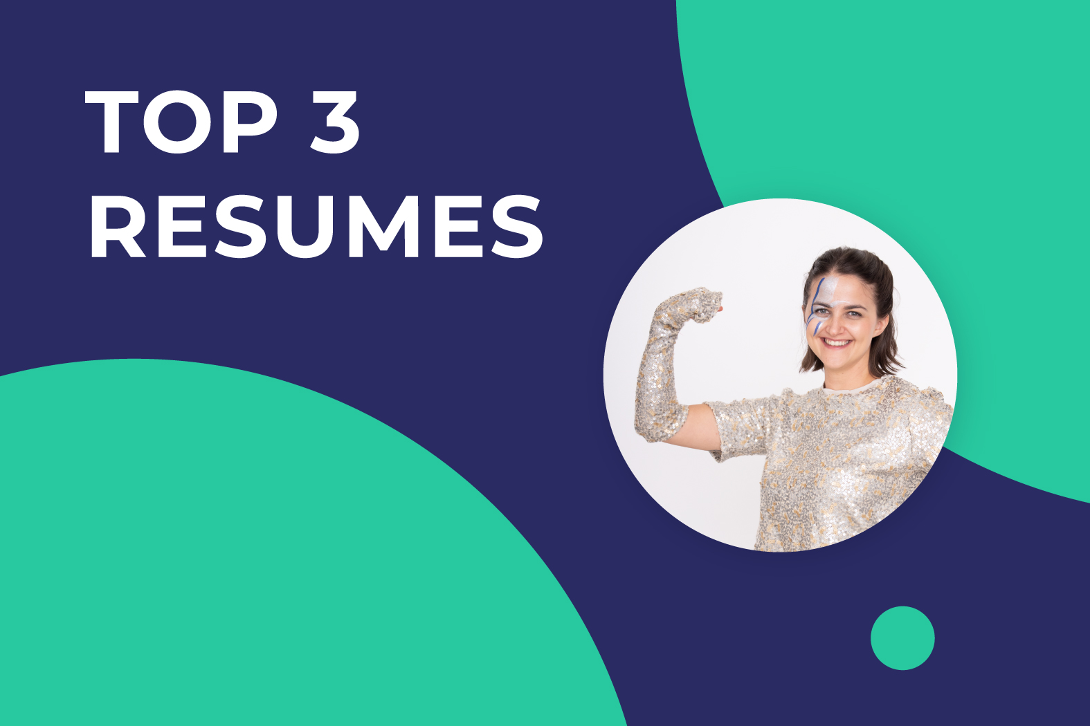 A girl is happy to find the top 3 resume templates for startups