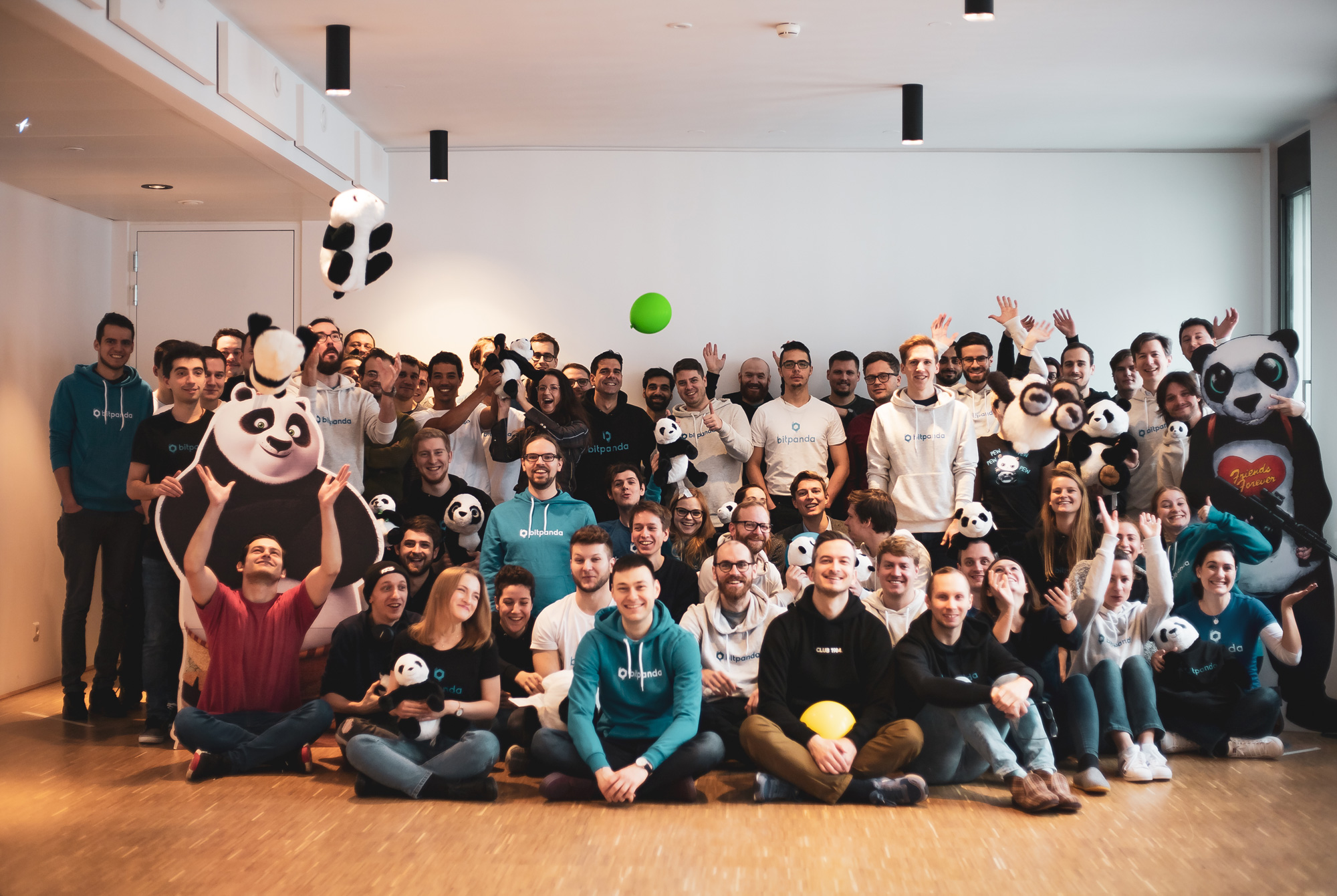 Bitpanda team on We Can Be Heroes