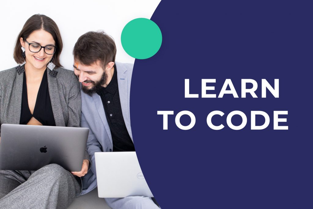 Colleagues are learning how to code