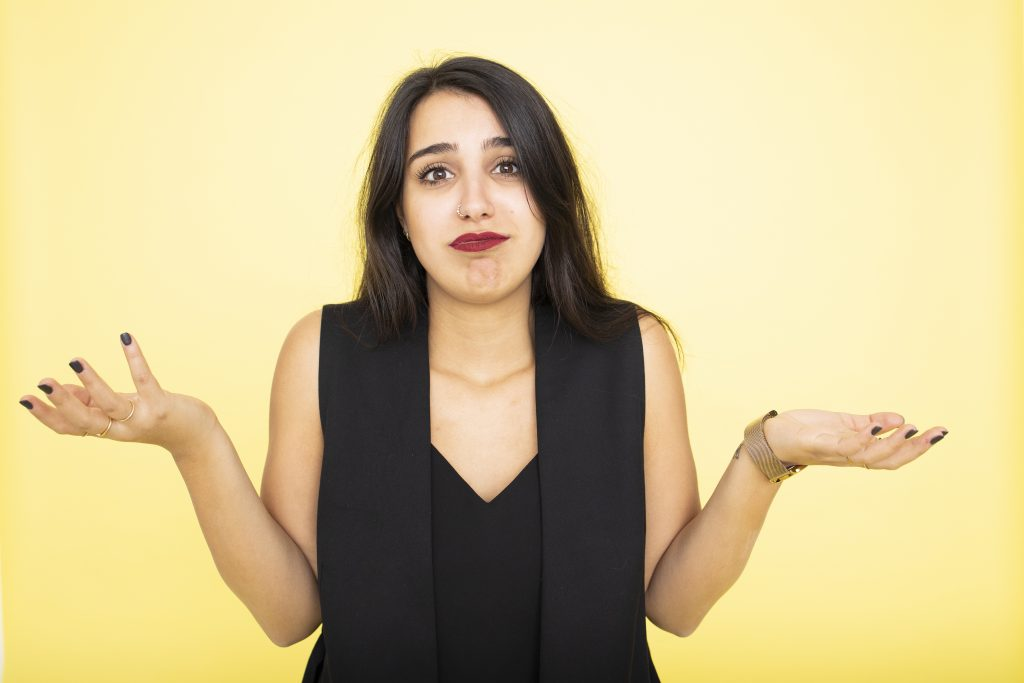 A girl doesn't understand the startup-related terms